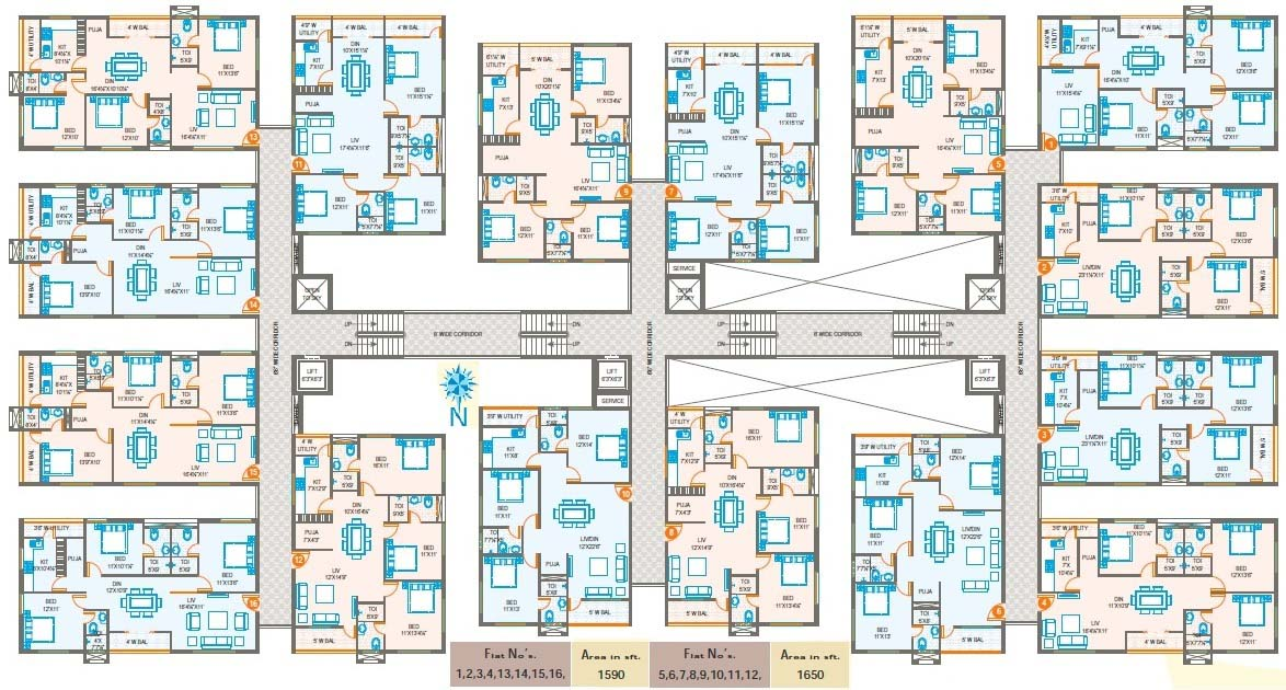 Oxygen Towers @ Venkateswara Nagar Floor Plan Layout